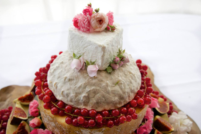 Wedding cheese stack